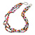 7-8mm Multicoloured Baroque Freshwater Pearl, 3 Strand Twisted Necklace - 46cm L/ 5cm Ext - view 7