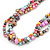 7-8mm Multicoloured Baroque Freshwater Pearl, 3 Strand Twisted Necklace - 46cm L/ 5cm Ext - view 8