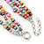 7-8mm Multicoloured Baroque Freshwater Pearl, 3 Strand Twisted Necklace - 46cm L/ 5cm Ext - view 5