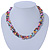 7-8mm Multicoloured Baroque Freshwater Pearl, 3 Strand Twisted Necklace - 46cm L/ 5cm Ext - view 3