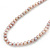 6-7mm Lilac Semi-Round Freshwater Pearl Necklace In Silver Tone - 43cm L - view 6
