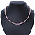6-7mm Lilac Semi-Round Freshwater Pearl Necklace In Silver Tone - 43cm L - view 9