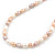 5-6mm Cream/ White/ Pink Rice Freshwater Pearl Necklace - 41cm L/ 5cm Ext - view 10