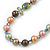 Multicoloured Shell Pearls with Crystal Glass Beads Long Necklace - 80cm L - view 4