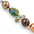 Multicoloured Shell Pearls with Crystal Glass Beads Long Necklace - 80cm L - view 5