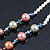 Multicoloured Shell Pearls with Crystal Glass Beads Long Necklace - 80cm L - view 7