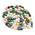 Long Rope Baroque Shape Multicoloured Freshwater Pearl Necklace - 116cm L - view 2