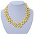10mm Bright Yellow, Pear Shape Freshwater Pearl 2 Strand Necklace - 43cm L - view 2