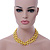 10mm Bright Yellow, Pear Shape Freshwater Pearl 2 Strand Necklace - 43cm L - view 3