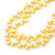 10mm Bright Yellow, Pear Shape Freshwater Pearl 2 Strand Necklace - 43cm L - view 7