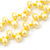 10mm Bright Yellow, Pear Shape Freshwater Pearl 2 Strand Necklace - 43cm L - view 5