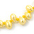 10mm Bright Yellow, Pear Shape Freshwater Pearl 2 Strand Necklace - 43cm L - view 6