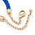 Blue Silk Cord With Gold/ Silver/ Rose Gold Balls Choker Necklace - 42cm L/ 5cm Ext - view 4