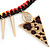 Statement Triangular Charm Black Chunky Chain With Multicoloured Silky Rope Necklace - 54cm L/ 7cm Ext - view 6