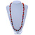 Long Multicoloured Sea Shell Nugget Necklace - 98cm L - view 2