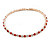 Rose Gold Tone Clear/ Red Top Grade Austrian Crystal Flex Choker Necklace