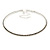 Light Grey Top Grade Austrian Crystal Choker Necklace In Rhodium Plated Metal - 35cm L/ 11cm Ext