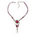 Rose And Butterfly Vintage Leather Cord Pendant (Purple, Pink&Lilac) - view 5