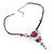 Rose And Butterfly Vintage Leather Cord Pendant (Purple, Pink&Lilac) - view 8