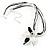 Black&White Enamel Flower Cord Pendant - view 3