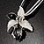 Black&White Enamel Flower Cord Pendant - view 7