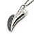 Long Contemporary Heart Pendant (Silver Tone) - view 7