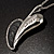 Long Contemporary Heart Pendant (Silver Tone) - view 8