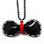 Stylish Plastic Bow Pendant (Black&Red)