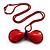 Stylish Plastic Bow Pendant (Red&Black)