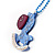Light Blue Crystal Rocking Horse Pendant - view 2