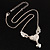 Silver Plated Angel Wings&amp;Heart Fashion Pendant - view 2