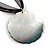 Black Romantic Rose Shell Organza Cord Pendant Necklace - view 5