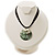 Black Romantic Rose Shell Organza Cord Pendant Necklace - view 3