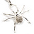 Shimmering Diamante Spider Pendant Necklace (Silver Tone Finish) - 60cm Length