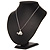 Cute Crystal Turtle Pendant Necklace In Rhodium Plated Metal - 44cm Length - view 5
