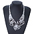 Chunky Triple Rose Ethnic Necklace In Rhodium Plating - 42cm Length/ 7cm Extender - view 10