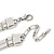 Chunky Triple Rose Ethnic Necklace In Rhodium Plating - 42cm Length/ 7cm Extender - view 6