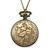 Antique Bronze Tone Big Ben & Roses Motif Quartz Pocket Watch Pendant Necklace - 45mm D/ 80cm L - view 4