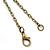 Antique Bronze Tone Big Ben & Roses Motif Quartz Pocket Watch Pendant Necklace - 45mm D/ 80cm L - view 5
