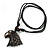 Unisex Acrylic Eagle Pendant With Black Waxed Cotton Cord - Adjustable - view 3