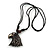Unisex Acrylic Eagle Pendant With Black Waxed Cotton Cord - Adjustable - view 4
