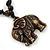 Unisex Acrylic Elephant Pendant With Black Waxed Cotton Cord - Adjustable - view 5