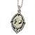 Vintage Inspired Simulated Pearl Cameo Pendant with Silver Tone Chain - 40cm L/ 7cm Ext