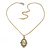 Vintage Inspired Simulated Pearl Cameo Pendant with Gold Tone Chain - 40cm L/ 7cm Ext - view 5