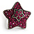 Magenta Crystal Star Ring - view 6