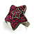 Magenta Crystal Star Ring - view 8
