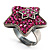 Magenta Crystal Star Ring - view 9