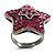 Magenta Crystal Star Ring - view 10