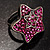 Magenta Crystal Star Ring - view 4