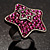 Magenta Crystal Star Ring - view 2